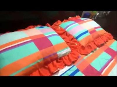 Fundas de almohadas con holán