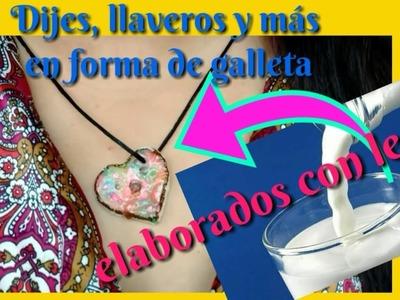 Haz broches, dijes, llaveros con leche en forma de galletas falsas  by MDulceCreación un Chocoregalo