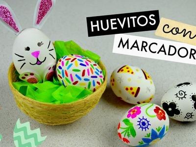 Huevitos de Pascua con Marcadores│Espacio Creativo