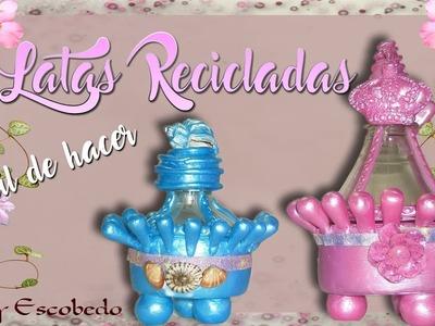 LATAS RECICLADAS FÁCIL DE HACER (BANDERA DE PERÚ)
