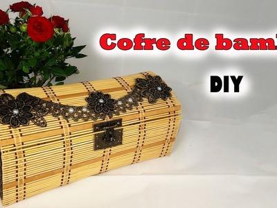 Manualidades con material reciclado. Cofre de bambú