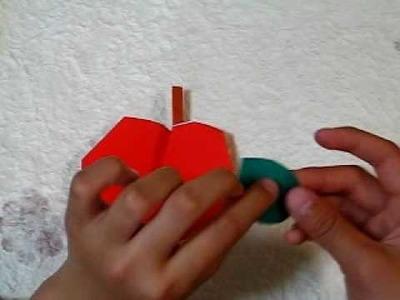 Manzana en origami