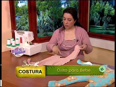 Mariela Cañete - Bienvenidas TV - Explica la costura de un Osito para Bebé.