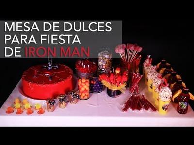 Mesa de dulces para fiesta de Iron Man de Lego de Los Avengers DIY Alejandra Coghlan