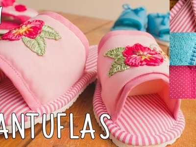 Pantuflas DIY paso a paso *cloth  slippers*