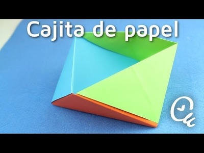 Papiroflexia: cómo hacer cajitas de papel   facilisimo.com