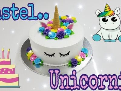 Pastel unicornio de crema y fondant, super fácil.  2018 !!! ????????????
