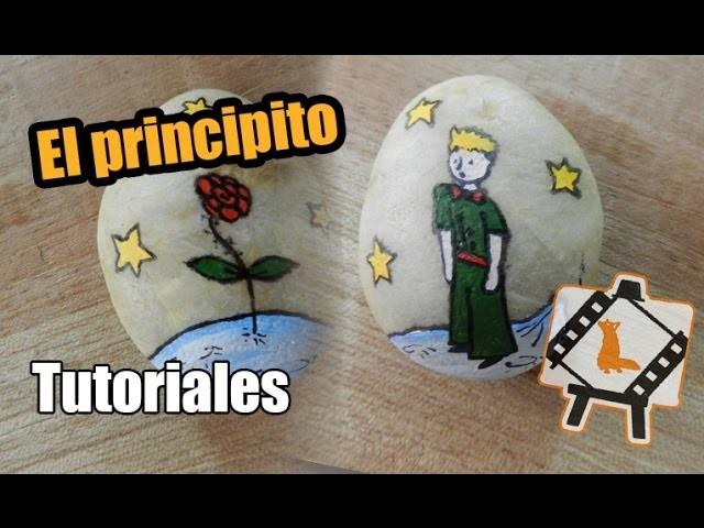 """Pintura en piedras """"El principito"""""""