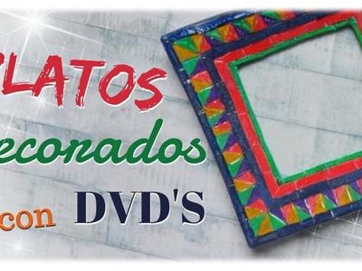 PLATOS DECORATIVOS RECICLANDO DVD'S (CD-FUSIÓN) | paso a paso
