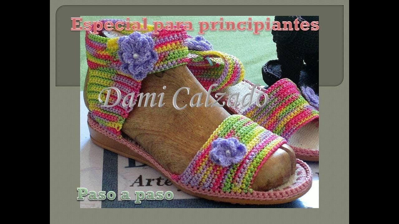Sandalias Chinelos En Para A Paso Principiantes Crochet 6mYyIvbf7g