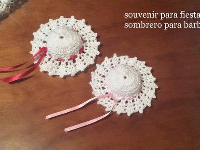 Sombrero Barbie y souvenir para fiestas Zurdos