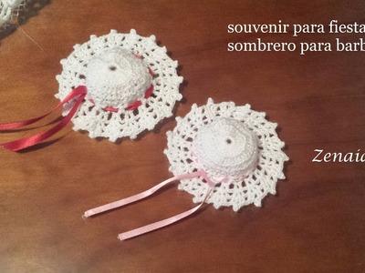 Sombrero Barbie y souvenir para fiestas Diestros