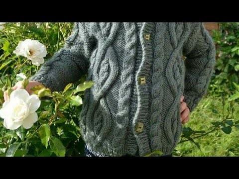 Suéter tejido de niño talla 8 dos agujas - quinta parte