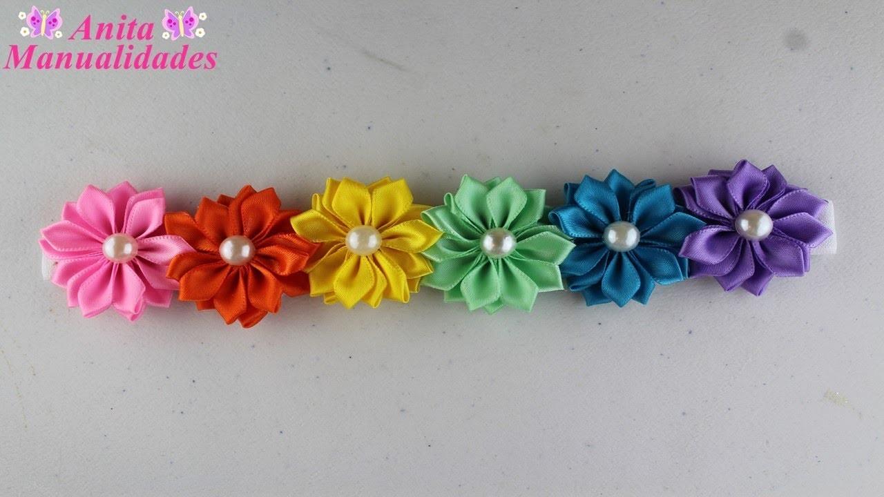 Tiara Primaveral con Flores Margaritas   Anita Manualidades