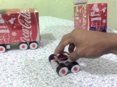 Trailer coca-cola hecho con latas de aluminio