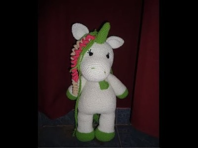 Unicornio al crochet (patrón)