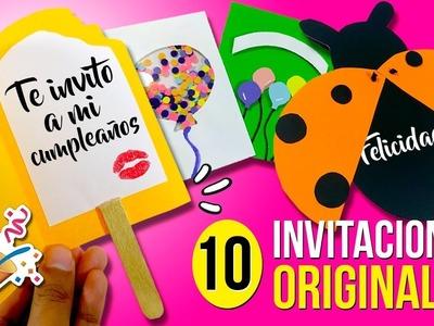 ???? 10 INVITACIONES Fáciles y Originales para hacer en 1 MINUTO!! ????