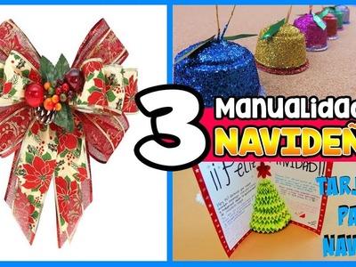????3 MANUALIDADES fáciles PARA NAVIDAD????    IDEAS navideñas    HaunterMake