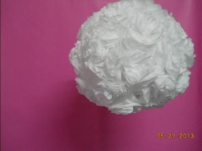 Adorno colgante-Pompón de rosas- Hanging ornament