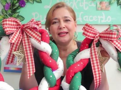 Adornos de Navidad*CORONA DE NAVIDAD  O GUIRNALDA NAVIDEÑA*Christmas Ornaments decorations diy