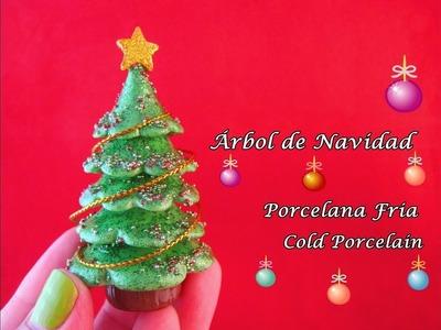 Árbol de Navidad en Porcelana Fria. Cold Porcelain