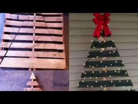 ÁRBOLES DE NAVIDAD CON PALETAS DE MADERA.PALLETS CHRISTMAS TREE +20 IDEAS