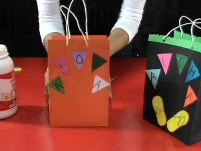 Bolsa  para sorpresas estilo hawaiana- Hawaiian style surprises bag