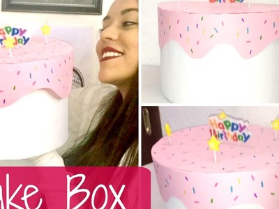 Cake Box Haz una caja en forma de Pastel - Brenda PE