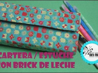 CARTERA.ESTUCHE CON BRICK DE LECHE