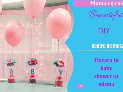 Centro de mesa para baby shower!!hazlo tu misma.