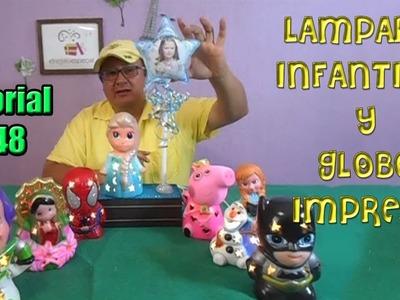 Centro de Mesa Recuerdo Frozen Elsa Personajes Infantiles Globo personalizado y Lampara