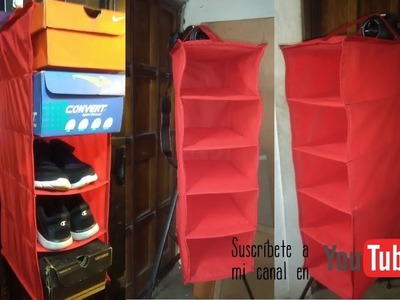 Como confeccionar una zapatera u organizador facil y sencillo HOW TO MAKE A SHOE RACK OR ORGANIZER