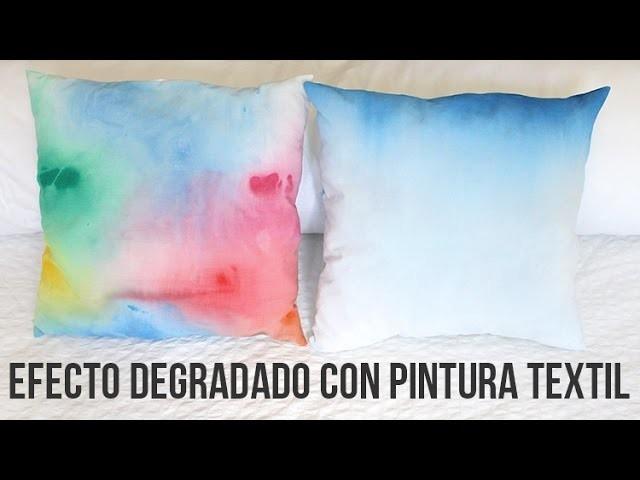 Cómo crear efecto degradado con pintura textil de forma fácil