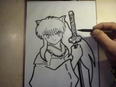 COMO DIBUJAR A INUYASHA. how to draw inuyasha