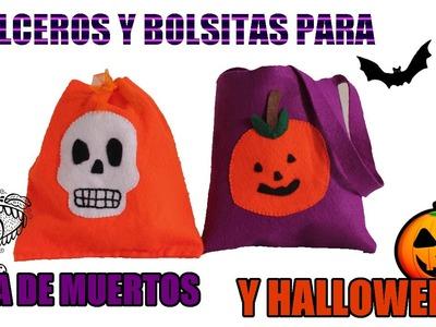 Como hacer dulcero y bolsa para día de muertos y halloween