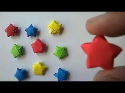 Como hacer estrellitas de papel - How to make paper stars