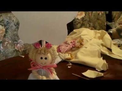 Como hacer la cabeza para una  muñeca de trapo