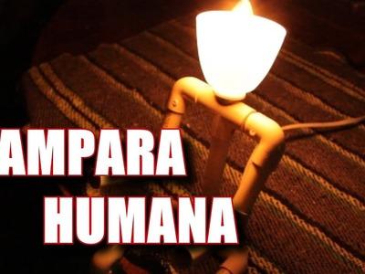 Como hacer lampara en forma humana facil