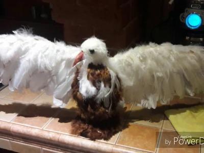 Como hacer un Águila , usando unicel y plumas