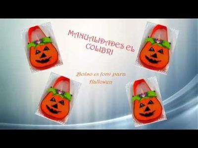 Como hacer un bolso en fomi para hallowen paso a paso de bolso en fomi. manualidades con fomi