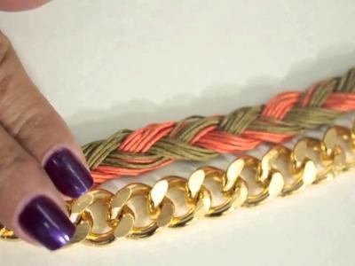 Como hacer un Collar Cadena Tejido1