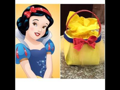 Como hacer un dulcero facil Blanca Nieves, birthday bag Blanca Nieves
