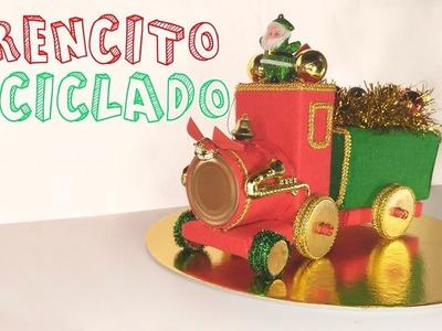 Cómo hacer un tren navideño reciclando │Candy Bu