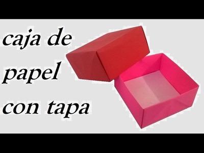 COMO HACER UNA CAJA DE PAPEL ¡muy facil! (Audio Español) - Origami box