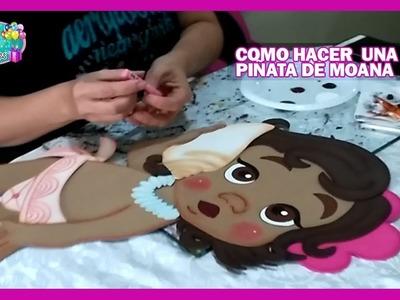 Como hacer una piñata de MOANA [PARTE 1]