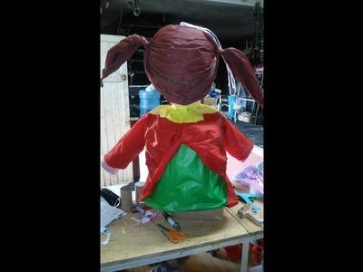 Como hacer una Piñata para  globos con una caja de cereal