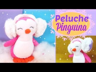 ????CÓMO HACER una pinguina peluche con sus audífonos????.fieltro. kawaii paño lenci