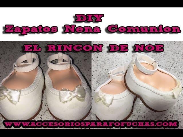 Como hacer Zapatos de Comunión de Niña Fofucha El Rincón de Noe