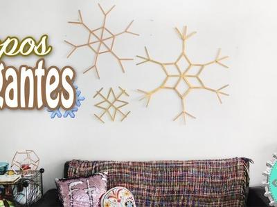 ❄️Copos de Nieve GIGANTES para decorar tu casa esta NAVIDAD????