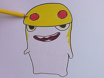 Dibujando y coloreando a Demoledora (Bajoterra) - Drawing and coloring Demoledora